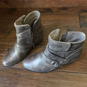 BareTraps ankle boots with buckle. Worn once!